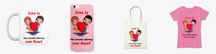 Buy Love is merchandise.